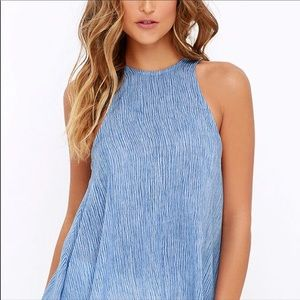 Lucy Love Tops - Lucy Love Charlie Halter Racer Back Top Blue